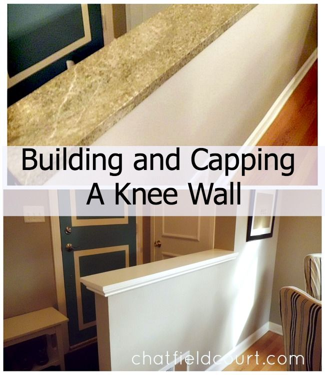 How to cover an outdated piece of marble on a knee wall.