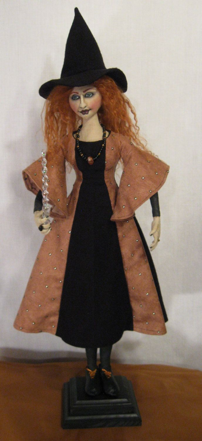 GOTHIC WITCH DOLL .