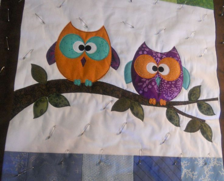 21 best quilts images on Pinterest | Applique quilts, Appliques ... : owl quilt patterns baby - Adamdwight.com