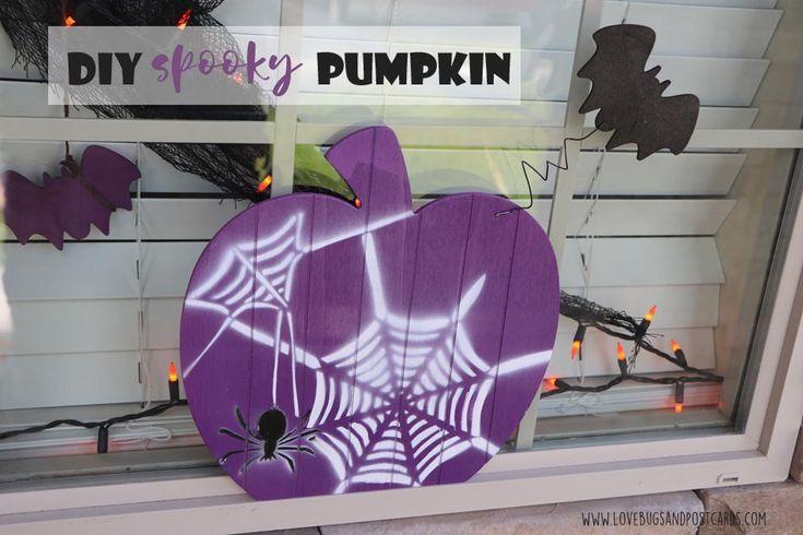Build your own spooky Slat Pumpkin