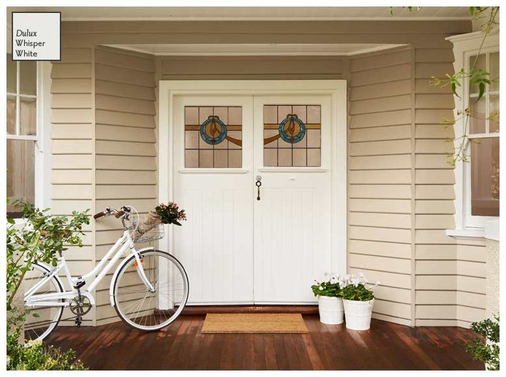 Dulux Whisper White doors