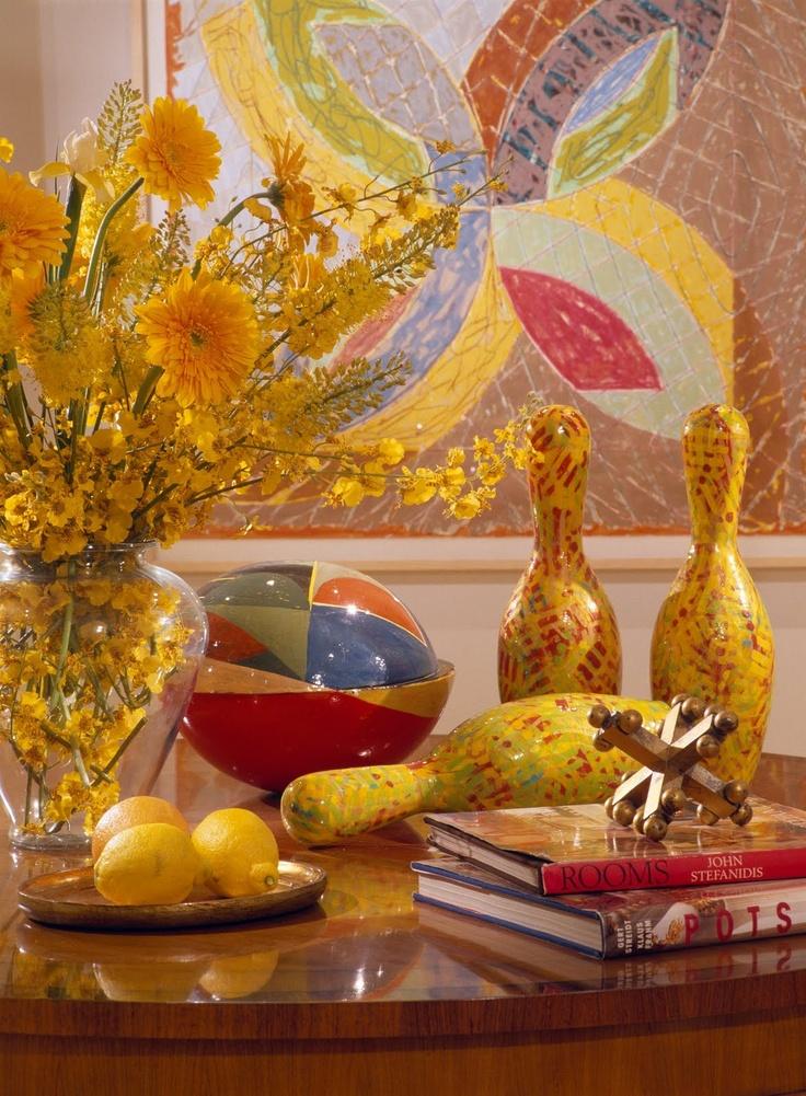 mary douglas drysdale....color loveMary Douglas, Cozy Vignettes, Pink Sofas, French Tangerine, Design Mary, Douglas Drysdale, Bowls Ball, Tops Design, Bowls Pin