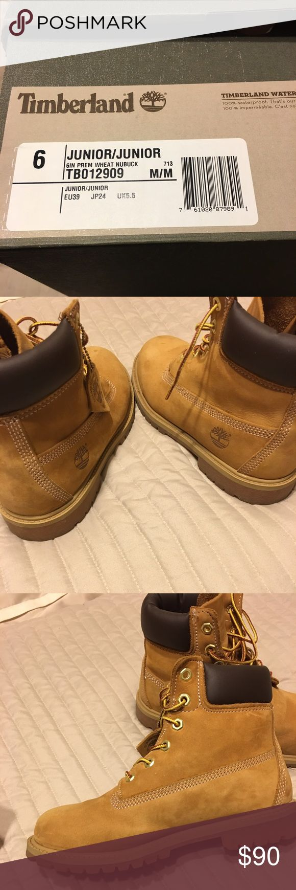 junior timberland boots size 7