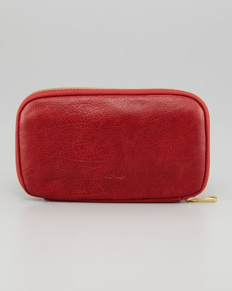 Leather Zip Around Wallet - Burn in Red (1) by VIDA VIDA 8t7Nq8oa5