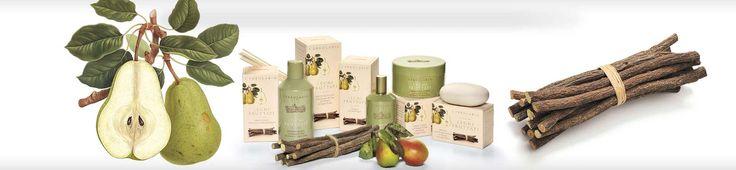 Fruits&Woods körte és édesgyökér illattal.  - Rendeld meg online! Parfüm és kozmetikum család az olasz Lerbolario naturkozmetikumoktól