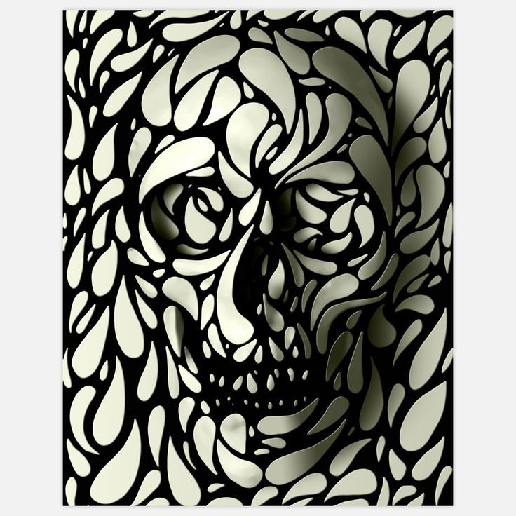 Ali Gulec: Skullart, Ali Gulec, Skull Prints, Aligulec, Art Prints, Black White, Skull Design, 3D Skull, Skull Art