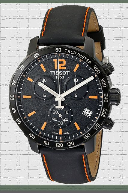 Tissot Men's T0954173605700 Quickster Chronograph Analog-Display Swiss Quartz Black Watch Price:     $299.91 & FREE Returns  #LuxuryTissotWatches #TissotWatches #LuxuryWatches #MensWatches