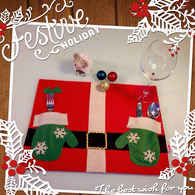 1st Grade Christmas Party Ideas Part - 44: Santa Clause Felt Placemat For Christmas. Itu0027s % 100 Handmade U0026 Specially  Designed By Pembe