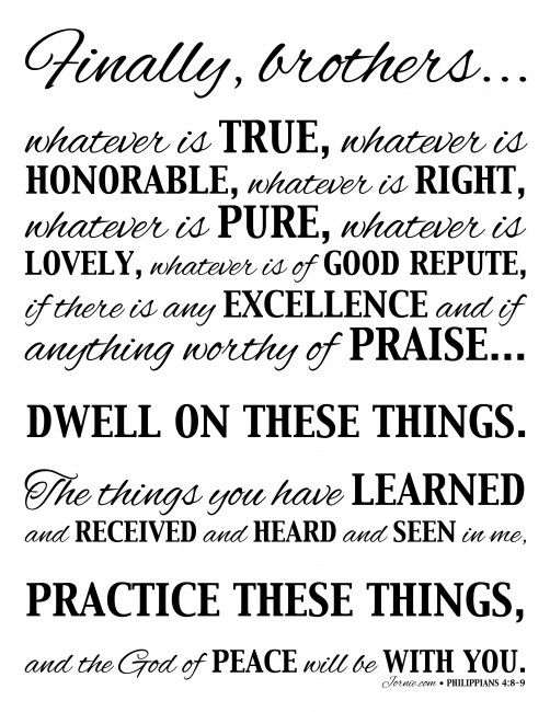 Philippians 4:8-9 | Jornie.com