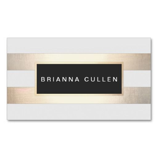 Chic Stylish Striped FAUX Gold and Black Plaque - Great for makeup artists cosmetologists, hair salons, stylists, fashion boutiques, interior designers, event planners, spas and more.
