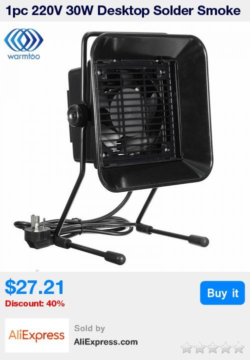 1pc 220V 30W Desktop Solder Smoke Absorber Extractor Air Filter Fan +3 pcs Activated Carbon Filter Sponge * Pub Date: 23:54 Jul 5 2017