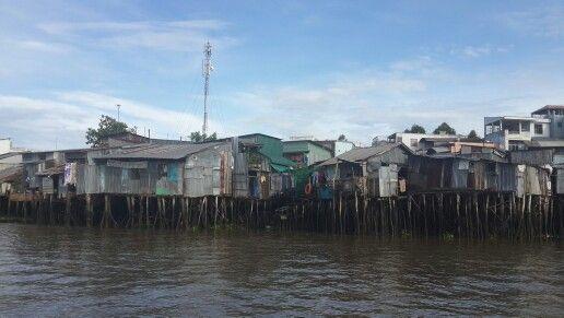 Stillt houses.  Mekong Deltha. Vietnam