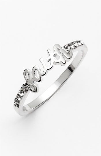 Ariella Collection 'Messages - Faith' Script Ring (Nordstrom Exclusive) available at #Nordstrom