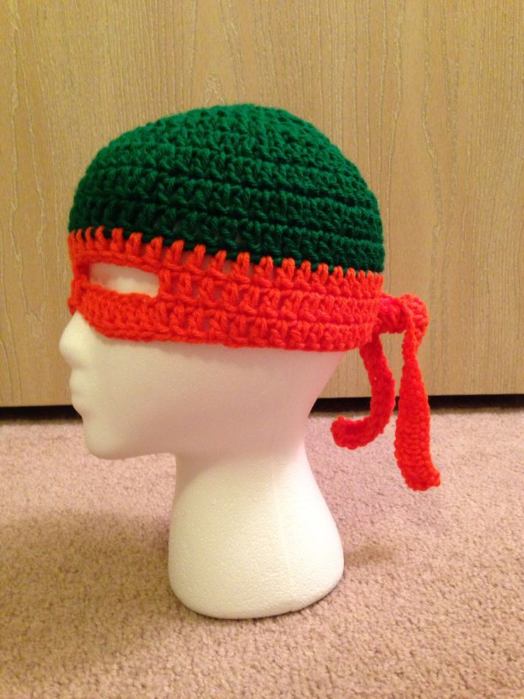 Kids crochet ninja turtle hat L&L Pinterest Kid ...