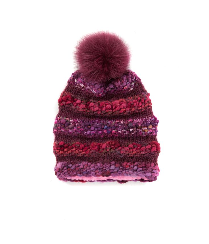 KNIT BEANIE CAP FOR WOMEN in Maroon - The GŌBLE Women Knit Beanie Cap is a luxurious soft blend of merino wool, alpaca, silk and mohair HAND KNIT IN CANADA  GOBLE.CA