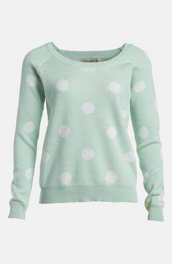 Spring Sweater: Mint & Polka Dots