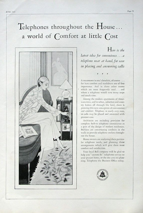 Telephone Advertisements In The 1920s