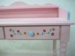 Hand painted including decoration, Deskchairrosenew440 is for girls! #kinderbureau #kindermeubelen #kinderkamers