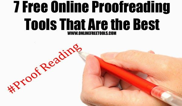 7 Free Online Proofreading Tools That Are the Best - Online Free Tools