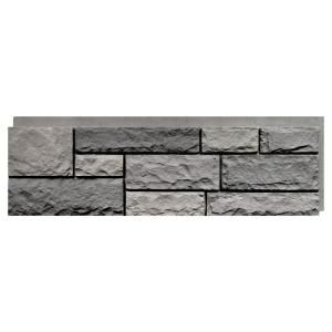 NextStone Random Rock Tri Gray 15.5 in. x 48 in. Faux Stone Siding Panel (4-Pack)-RRP-TG-4 - The Home Depot