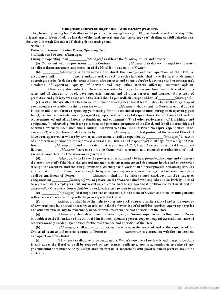 759 best Basic legal Template - Sample images on Pinterest Free - management contract template