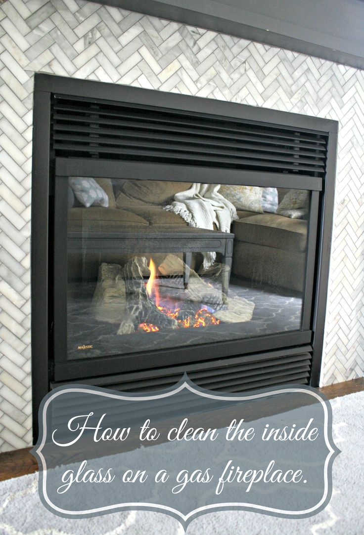 Simple and quick instructions on how to clean the inside glass on a gas fireplace.