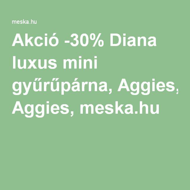 Akció -30% Diana luxus mini gyűrűpárna, Aggies, meska.hu