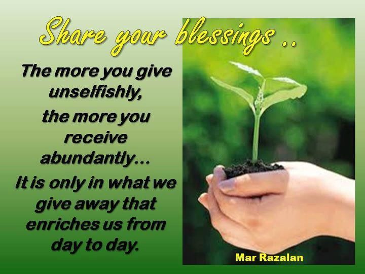Quotes About Sharing Your Heart Quotesgram: Sharing Blessings Quotes. QuotesGram