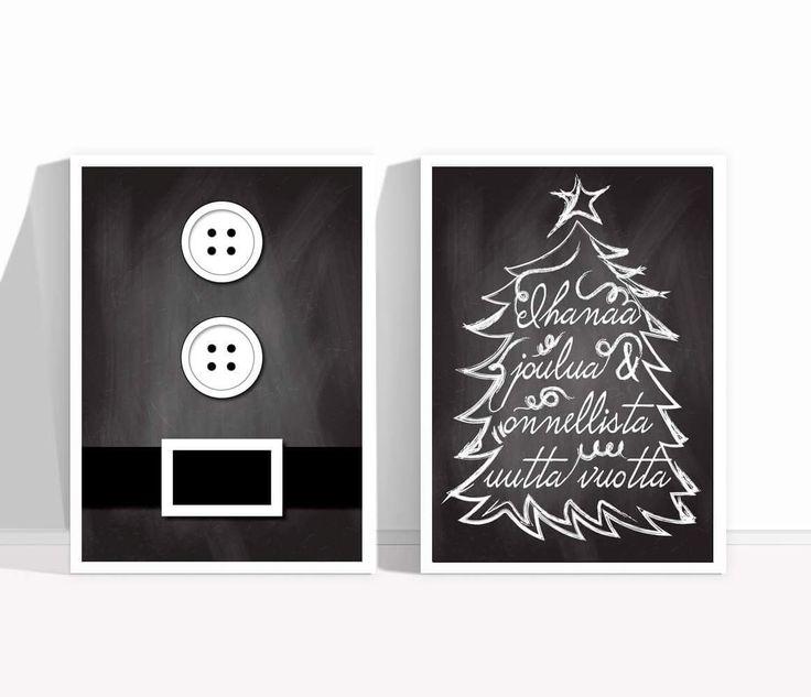 Modernit joulukortit @kirpunkoti