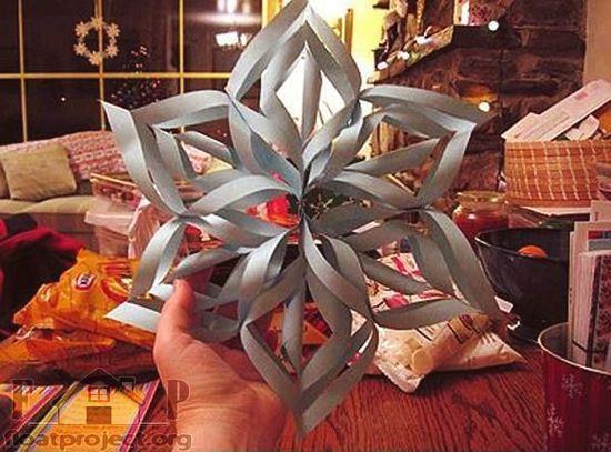 3D paper snowflake Cool DIY paper snowflake