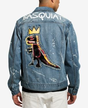 ef40fbdc6 Sean John Men's Basquiat Pez Denim Jacket, Created for Macy's - Blue 2XL