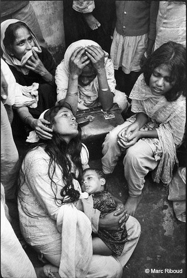India, 1971, women Bengali refugees by Marc Riboud