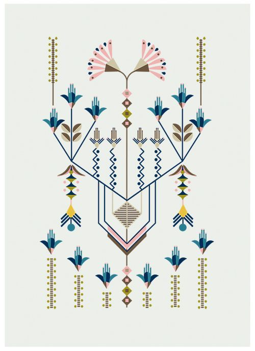 Flower Series, illustration by Carolina Melis - linhas e flores: http://www.carolinamelis.net/