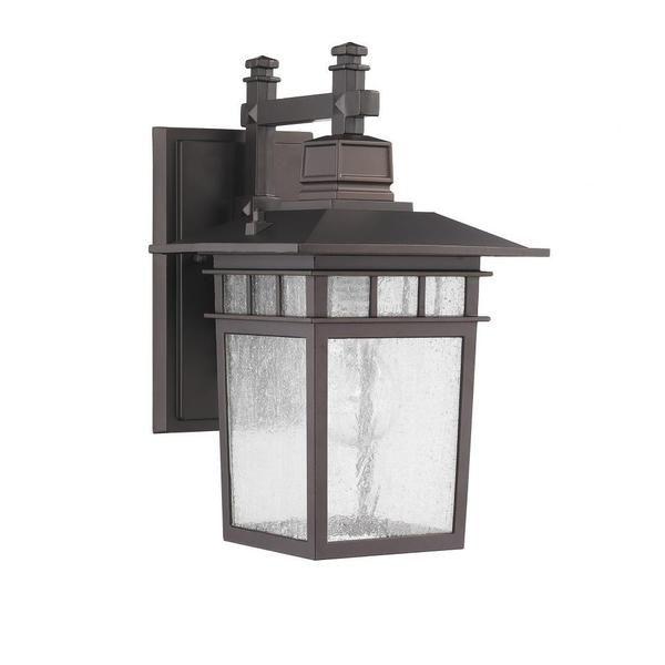 Transitional 1-light Dark Bronze Outdoor Wall Light Fixture - Overstock™ Shopping - Big Discounts on Wall Lighting
