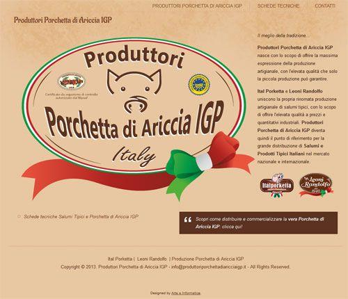 Produttori riuniti della Porchetta di Ariccia IGP e dei Salumi Tipici Italiani, la produzione artigianale sinonimo di qualità.
