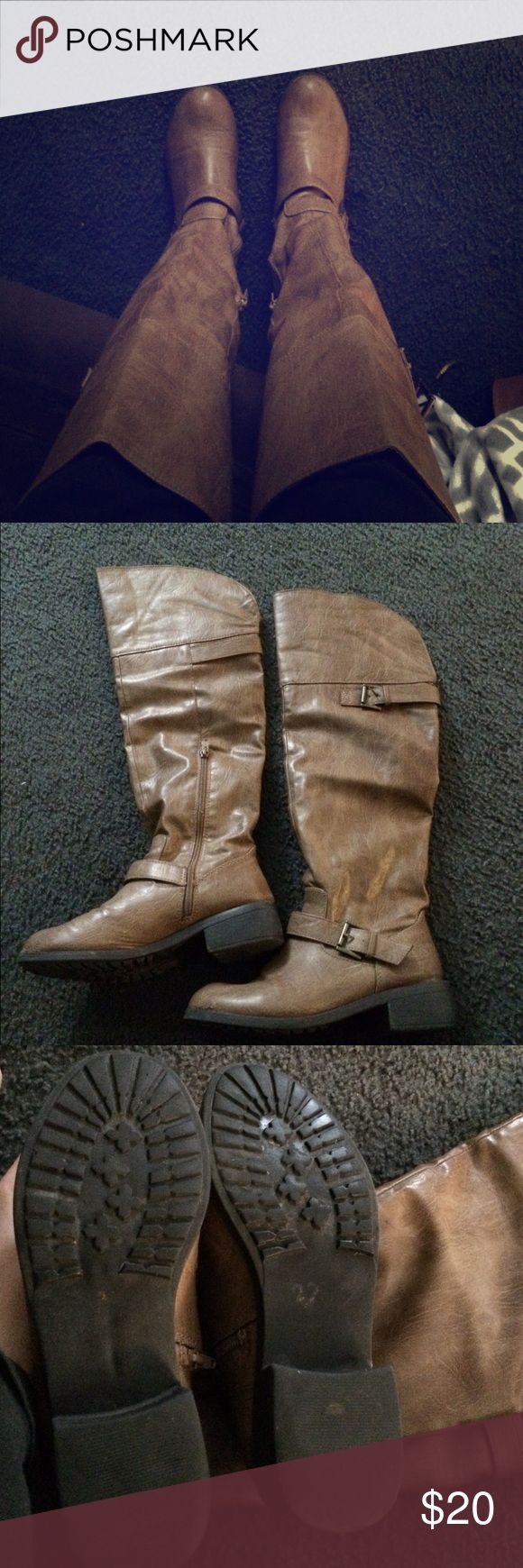 Tan knee high boots They are lightly worn and very comfortable knee high boots. Shoes Over the Knee Boots