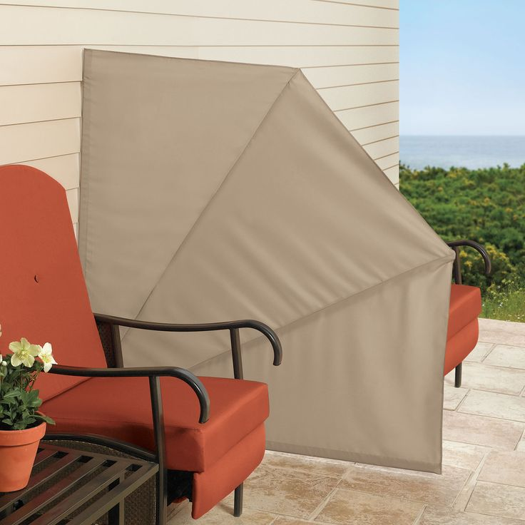 This Retractable, Fan Styled Outdoor Privacy Screen Helps Beat The Heat And  Wind Without