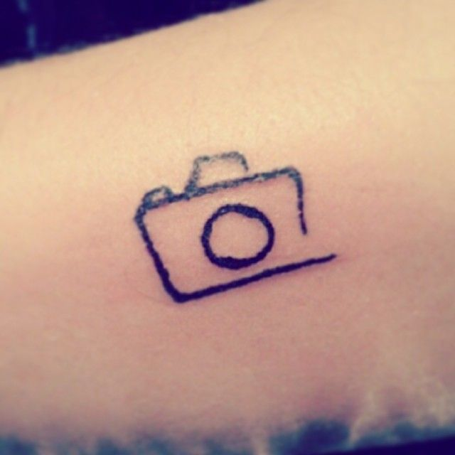 small abstract camera tattoo - Google Search