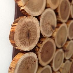 How to make a decorative log wall hanging. So easy and so stunning!