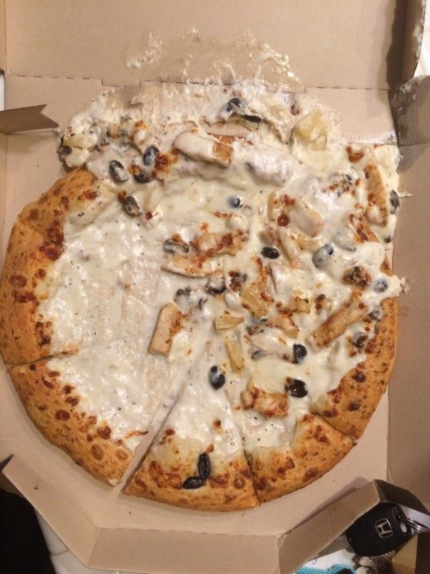 This complete fiasco of a pizza:   21 Photos That'll Ruin Your Whole Goddamned Day