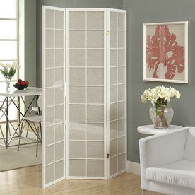 Monarch Specialties 3 Panel White Wood And Fabric Folding Indoor Priva. Indoor  Privacy ScreenPrivacy ...