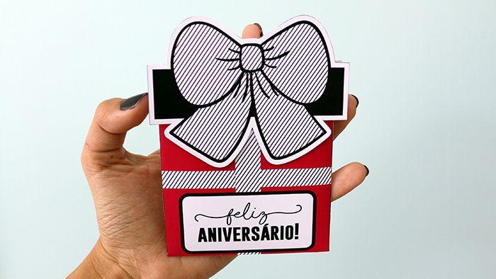 DIY: Cartão de Aniversário Caixa de Presente