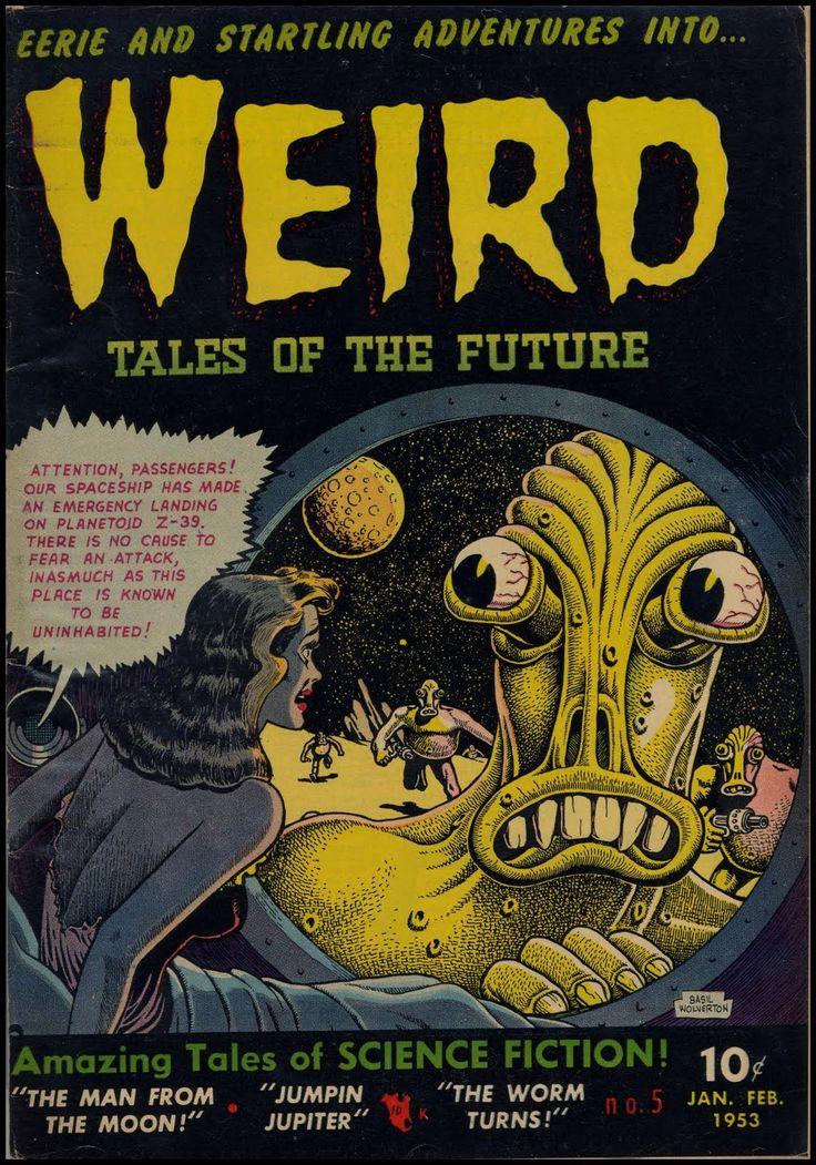 Basil Wolverton   Weird Tales of the Future #5   Aragon   1953