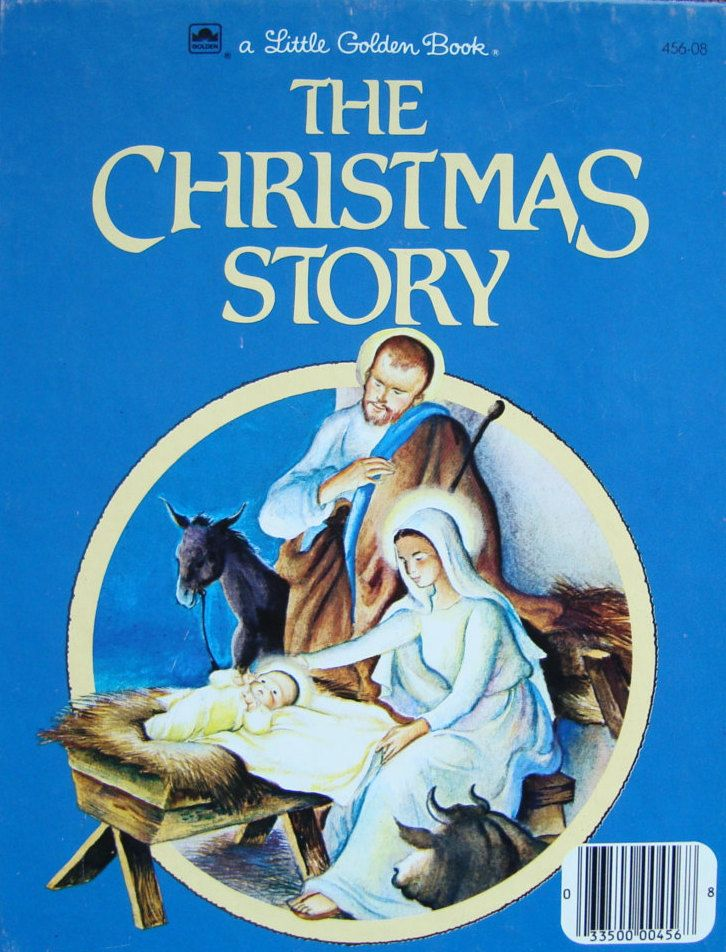 The Christmas Story - Children's Picture Storybook - a Little Golden Book by OfftheShelf2015 on Etsy