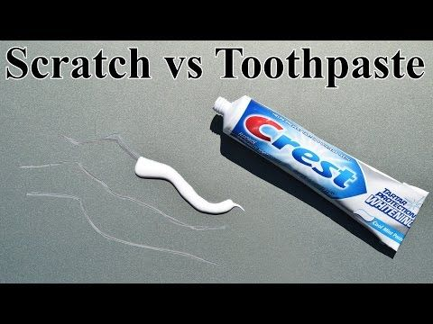 Remove Paint Transfer From Car Toothpaste