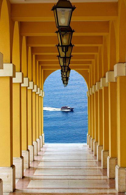 Lanterns to the Sea, Liguria, ItalyPhotos, Colors, Yellow, Places, Italy Travel, Ocean View, Lanterns, Deep Blue, The Sea