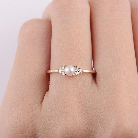 Female Pearl Ring Natural White Topaz Female Ring With Silver WhiteGoldPink Gold Color Lovely Silver Handmade Natrual Mother of Pearl