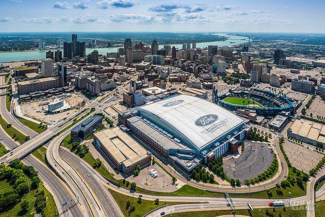 Detroit Skyline Detroit Skyline Skyline Chicago Bears Football