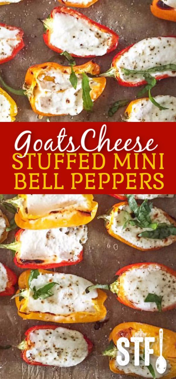 Goat Cheese Stuffed Mini Bell Peppers Stuffedbellpeppers Goat Cheese Stuffed Mini Bell Peppers Sav Stuffed Peppers Stuffed Bell Peppers Mini Peppers Recipes