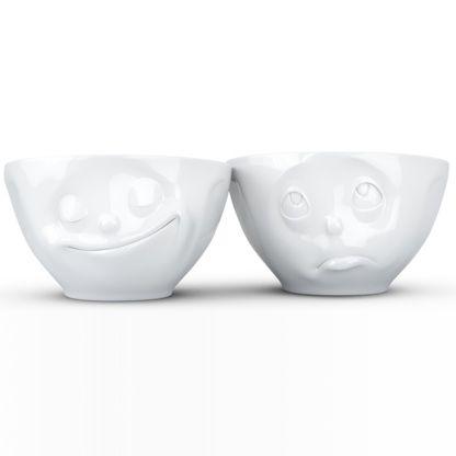Tassen Medium Bowls Set No.2 - Happy & Oh Please, White - Kitchenique